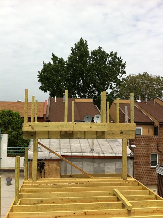 Progress Pics Spray Foam Insulation Amp Deck Philly Row