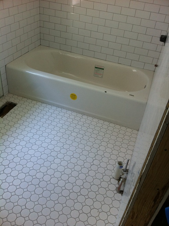 octagon tiles bathroom tiles philly row home reno 13839